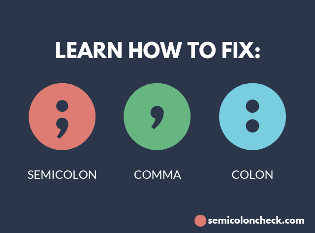 comma and semicolon checker online