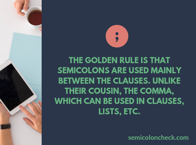 proper use of semicolon check app